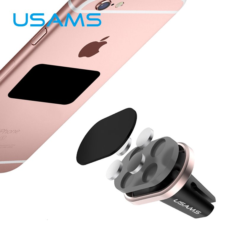 USAMS ZJ007 Magnetic Universal Držák do Auta Rose Gold