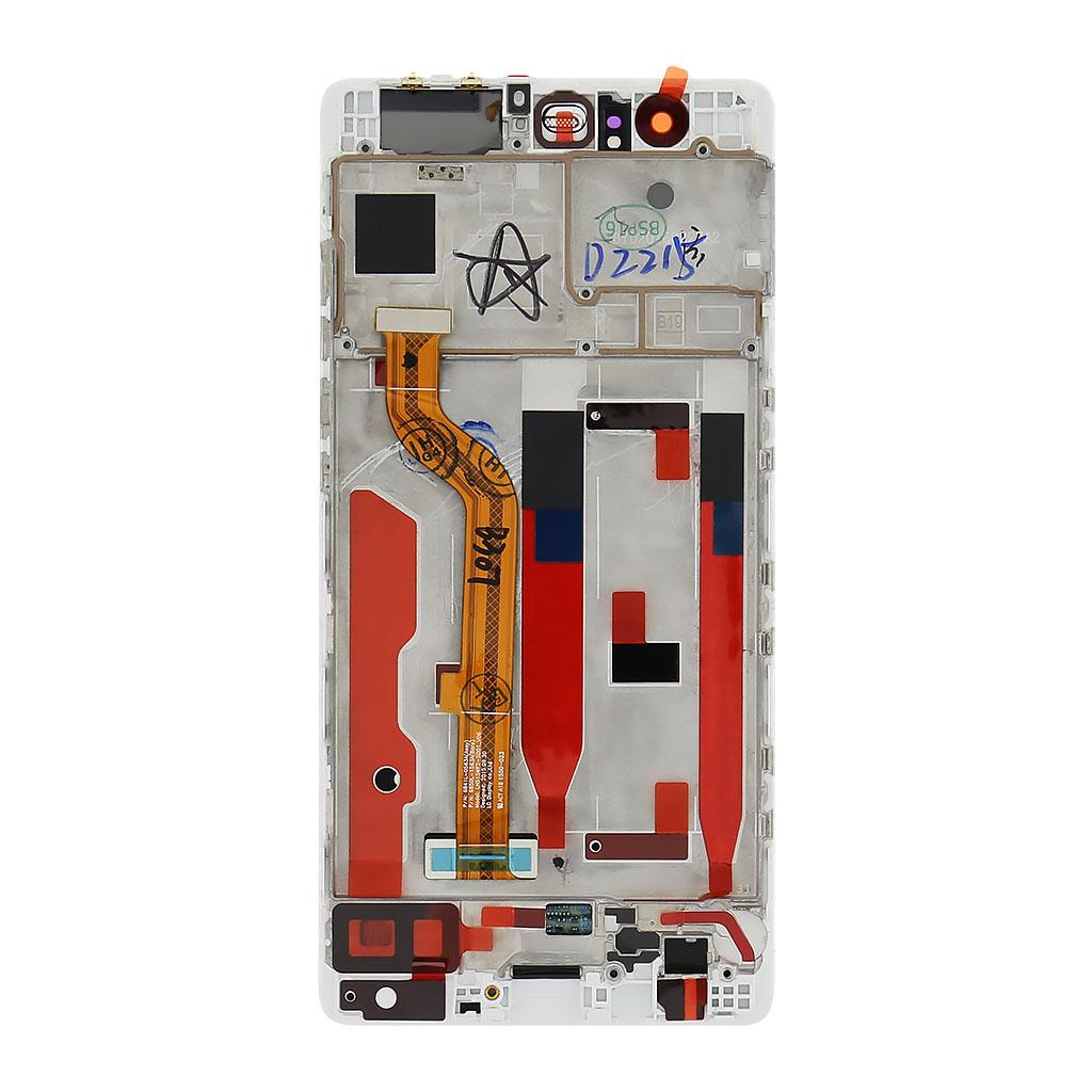 Huawei  P9 LCD Display + Dotyková Deska + Přední Kryt White