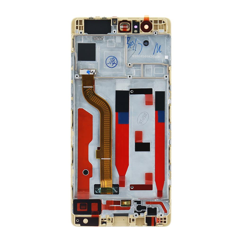 Huawei  P9 LCD Display + Dotyková Deska + Přední Kryt Gold