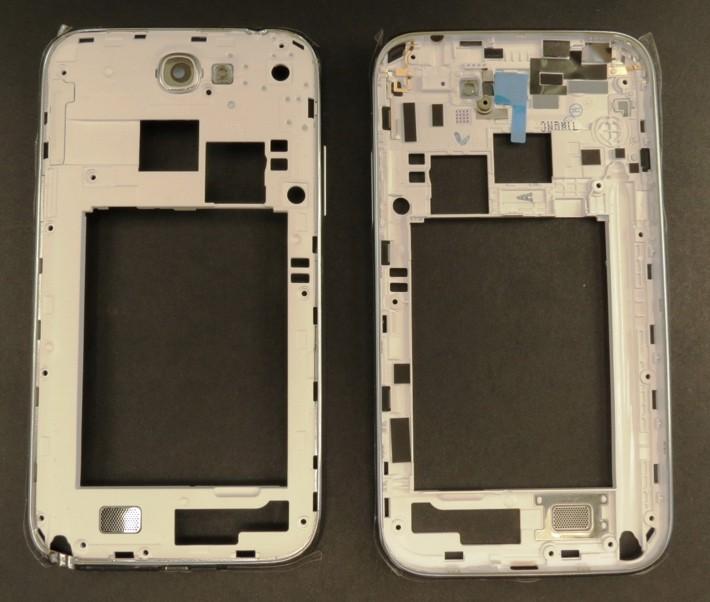 Samsung N7100 Galaxy Note2 White Střední Kryt