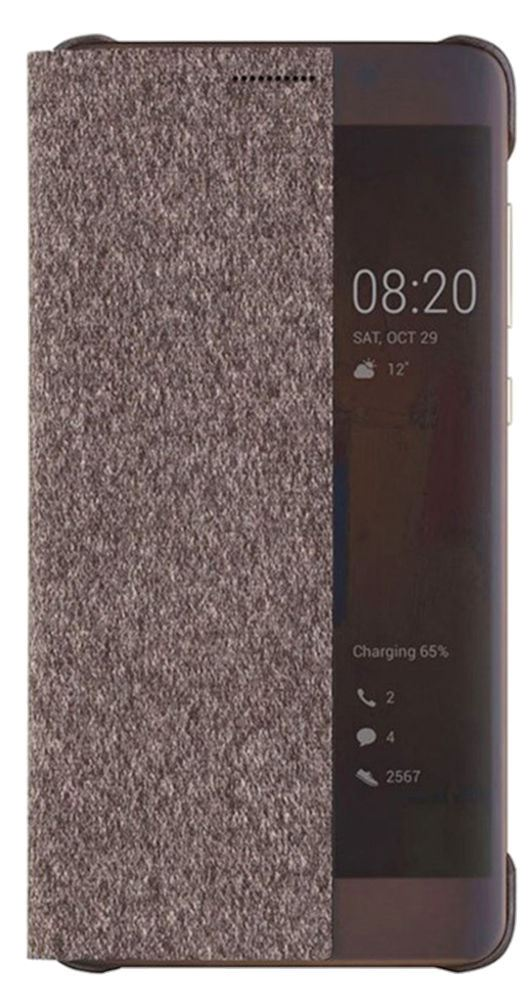 Huawei Original S-View Pouzdro Brown pro P10 (EU Blister)