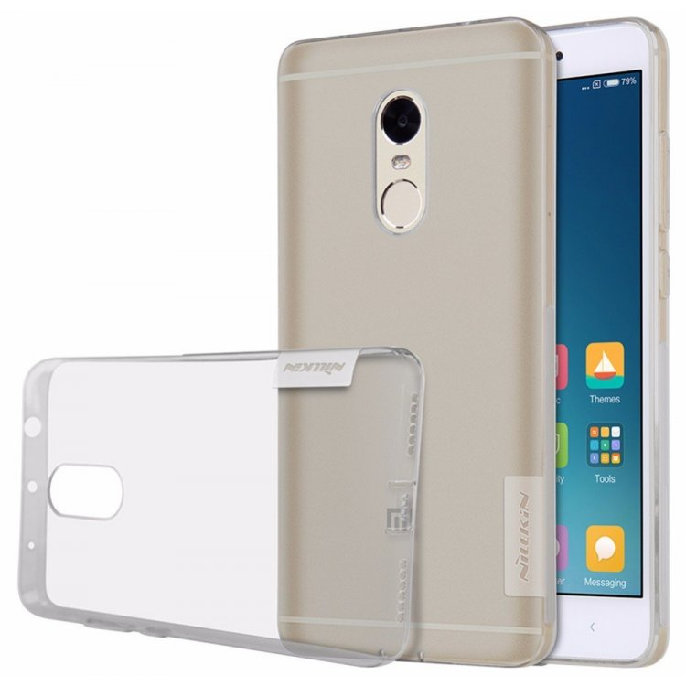 designer fashion a9130 607fe Nillkin Nature TPU Case Grey for Xiaomi Redmi Note 4 Global