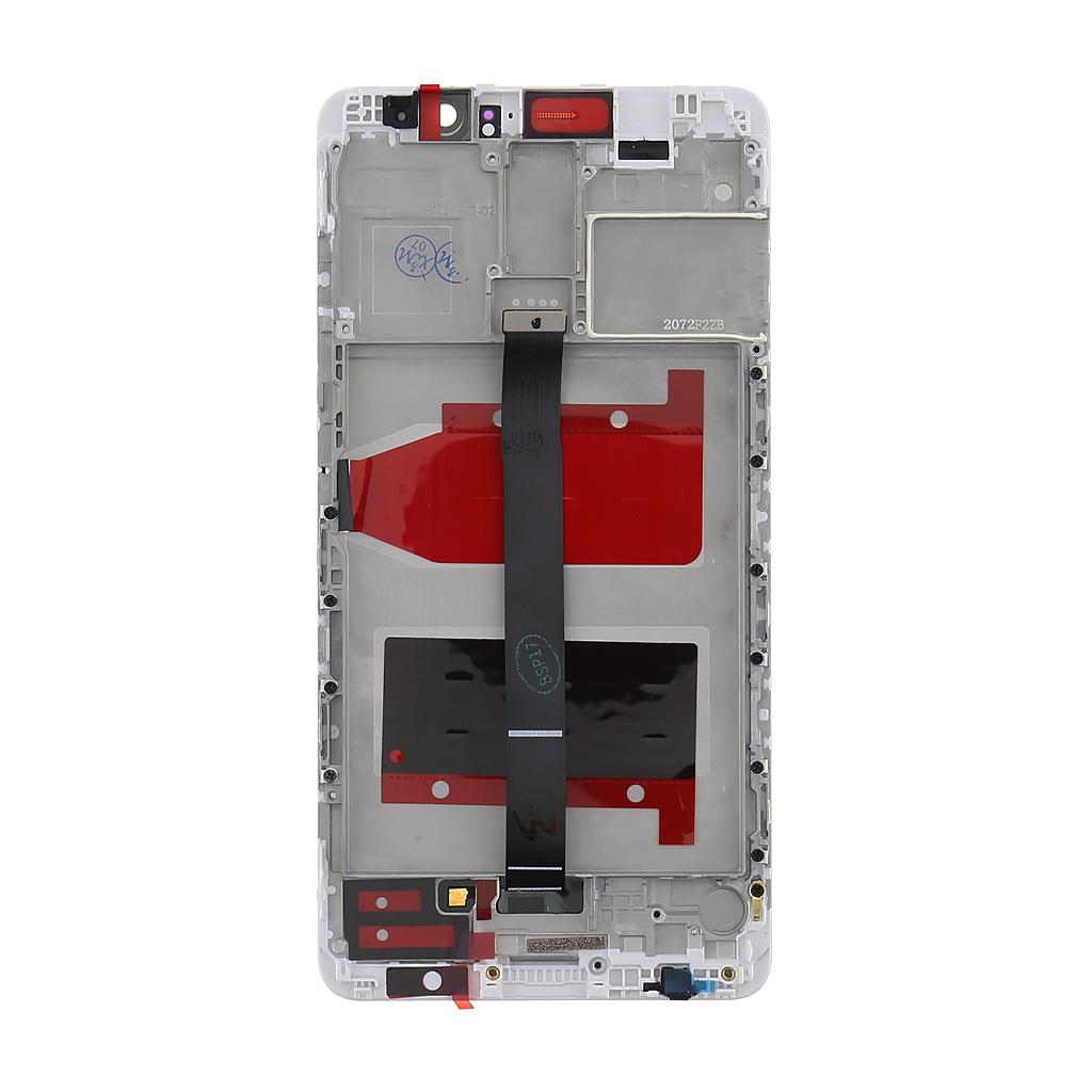 Huawei  Mate 9 LCD Display + Dotyková Deska + Přední Kryt White
