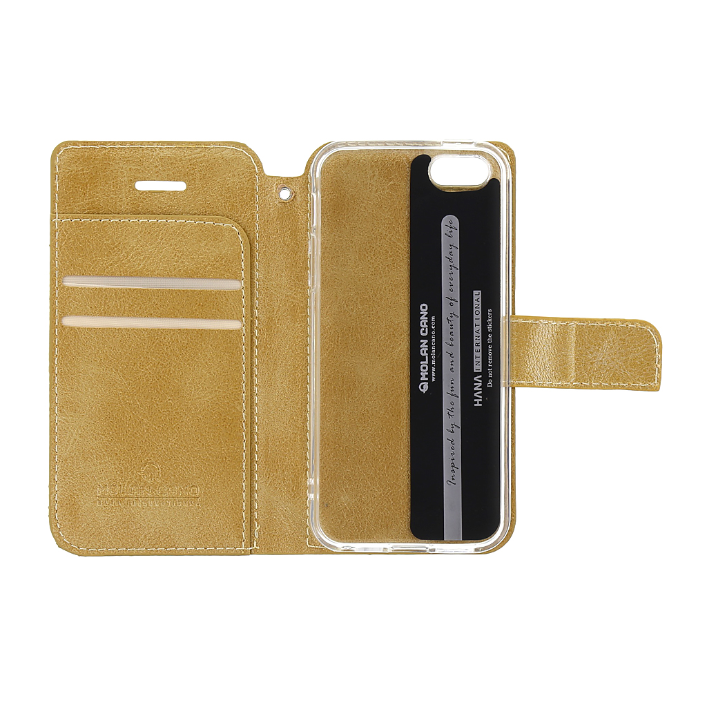 Molan Cano Issue Book Pouzdro pro iPhone 6/6S Gold