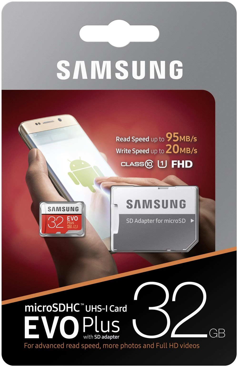 microSDHC 32GB EVO Plus Samsung Class 10 vč. Adapteru