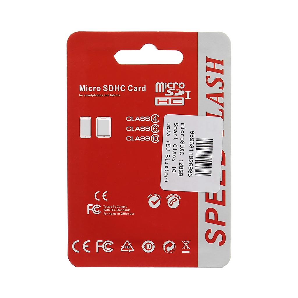 microSDXC 128GB Smart Class 10 wo/a (EU Blister)