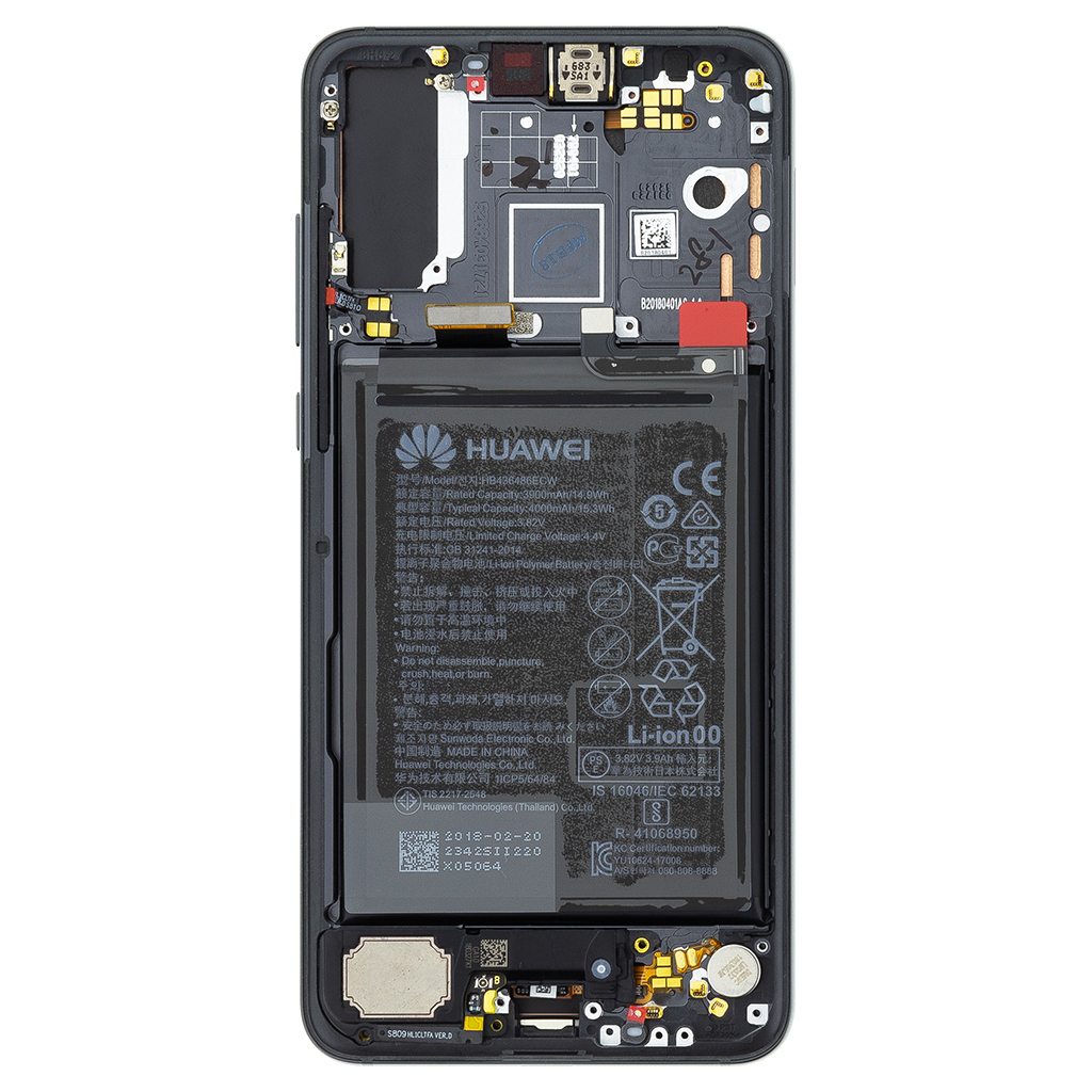 Huawei P20 Pro LCD Display + Dotyková Deska Black (Service Pack)