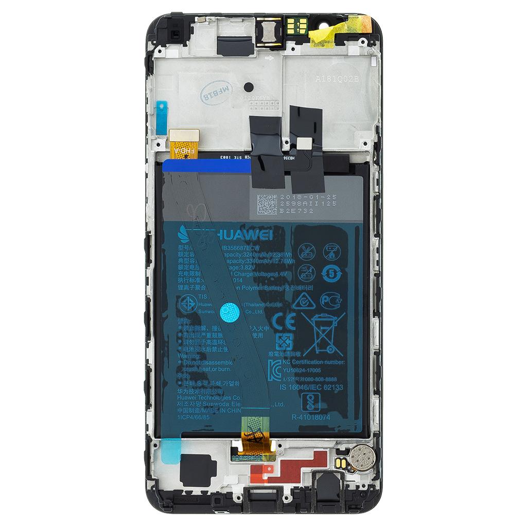 Honor 7X LCD Display + Dotyková Deska + Přední Kryt Black (Service Pack)