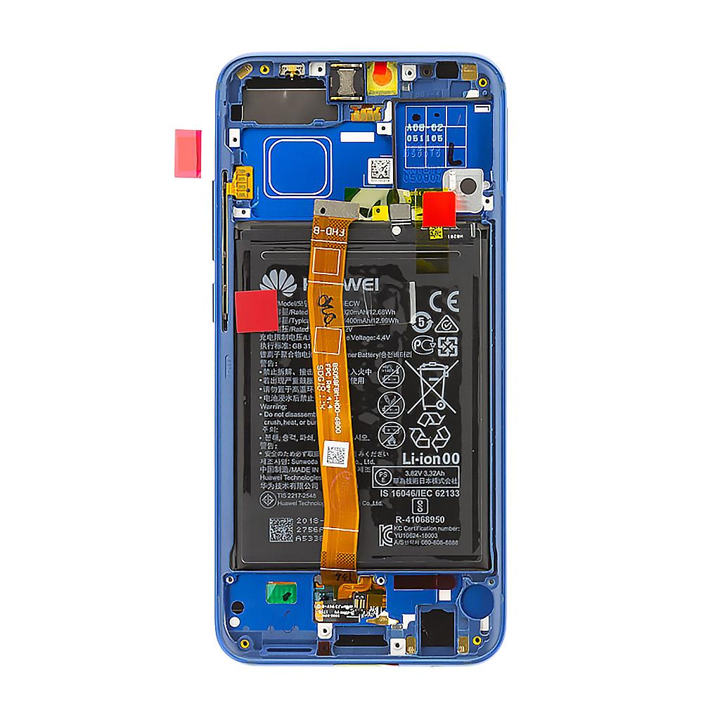 Honor 10 LCD Display + Dotyková Deska + Přední Kryt Blue (Service Pack)