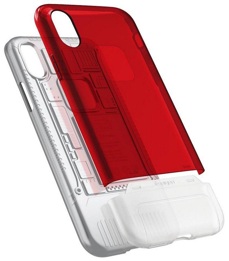 Spigen Classic C1 Cover pro iPhone X/XS Ruby (EU Blister)