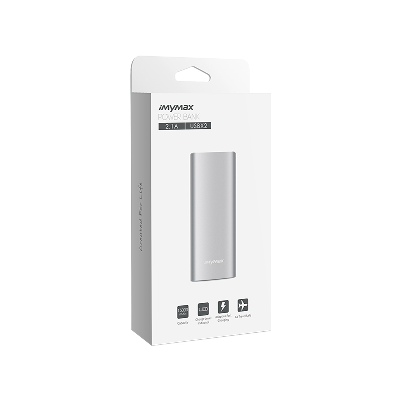 MyMAx X15 PowerBank 15000mAh Silver (EU Blister)