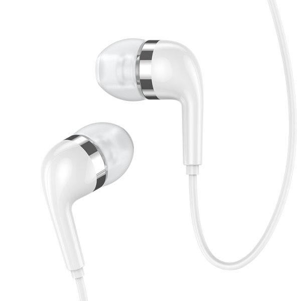 USAMS EP-23 In-Ear Electroplating Stereo Headset 3,5mm White