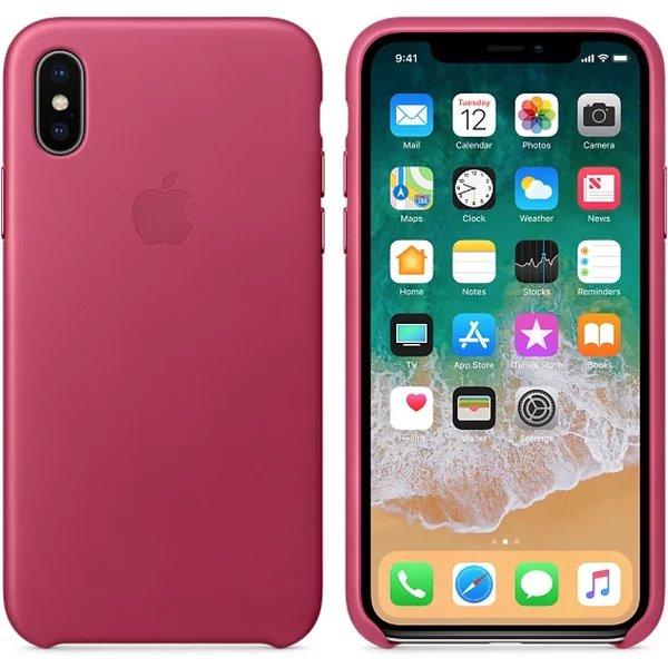 MQTJ2ZM/A Apple Kožený Kryt Pink pro iPhone X/XS (EU Blister)