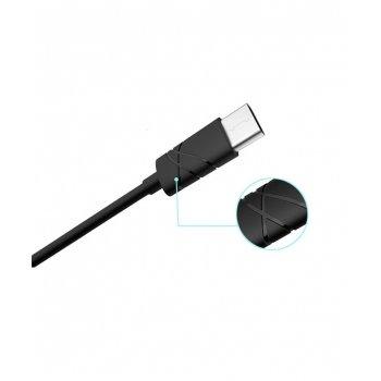 USAMS SJ042 Datový Kabel Type C U-Gee Black (EU Blister)
