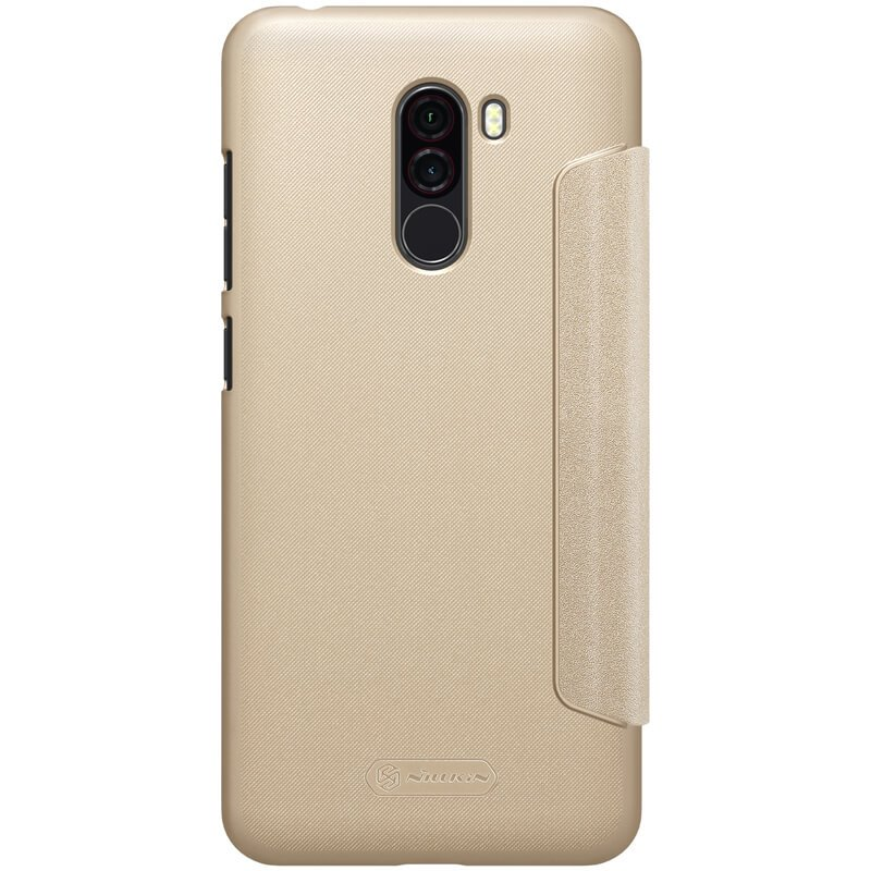 Nillkin Sparkle Folio Pouzdro Gold pro Xiaomi Pocophone F1