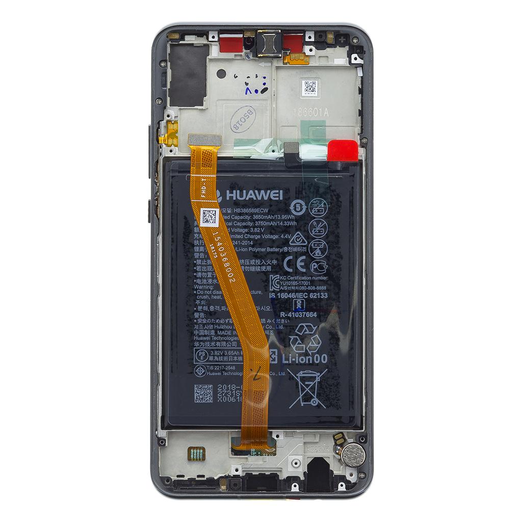 Huawei Nova 3 LCD Display + Dotyková Deska + Přední Kryt Black (Service Pack)