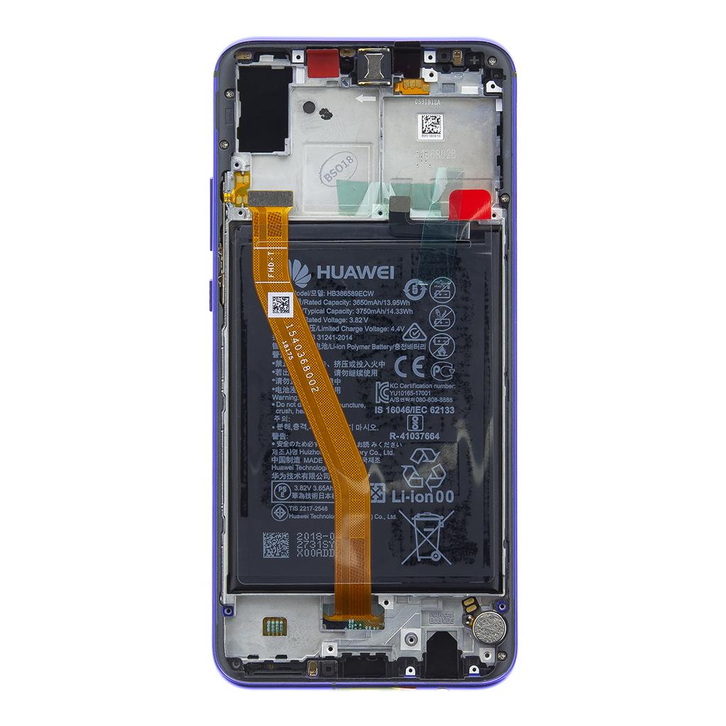 Huawei Nova 3 LCD Display + Dotyková Deska + Přední Kryt Purple (Service Pack)