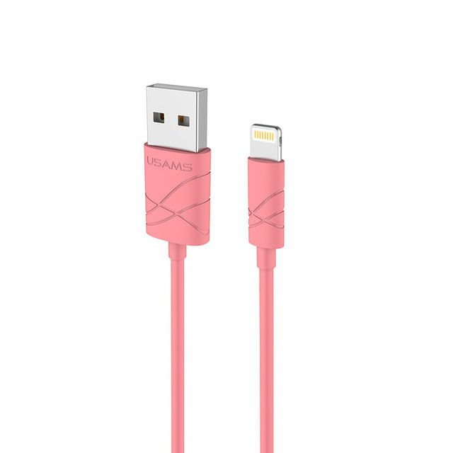 USAMS SJ038 Datový Kabel Lightning U-Gee Red (EU Blister)