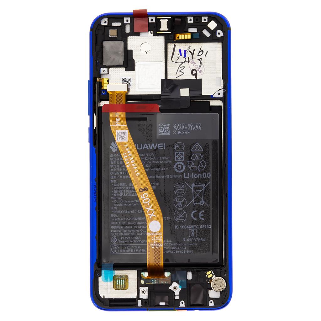 Huawei Nova 3i LCD Display + Dotyková Deska + Přední Kryt Purple (Service Pack)