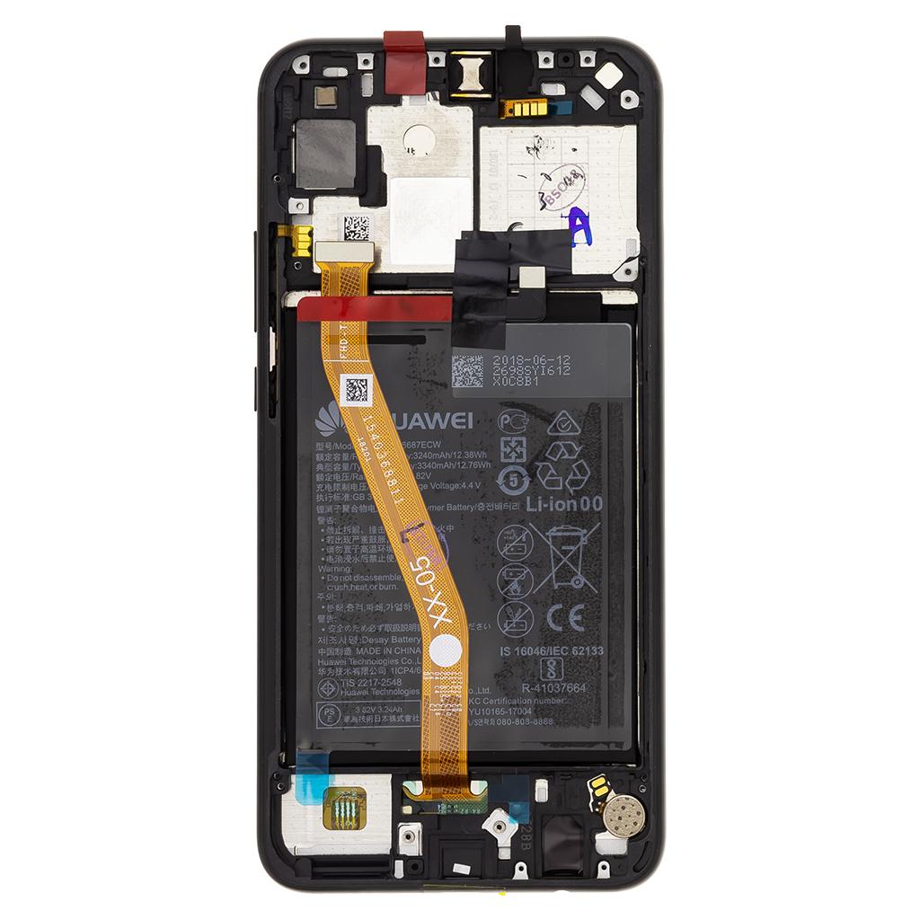 Huawei Nova 3i, P Smart Plus LCD Display + Dotyková Deska + Přední Kryt Black (Service Pack)