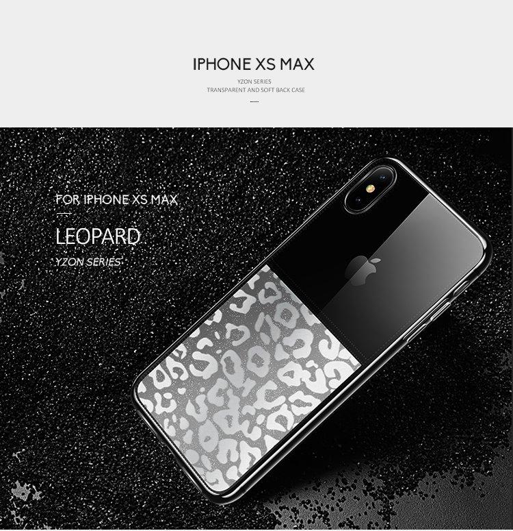 USAMS Yzon TPU Zadní Kryt Transparent Leopard pro iPhone XS Max