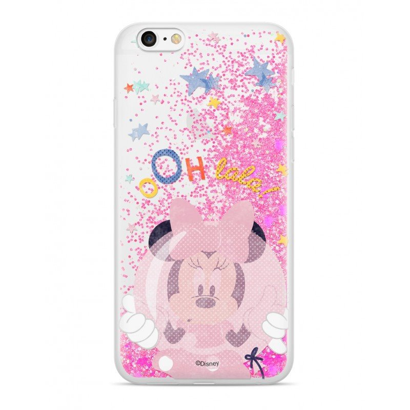 Disney Minnie 046 Glitter Back Cover Pink pro iPhone 6/6S