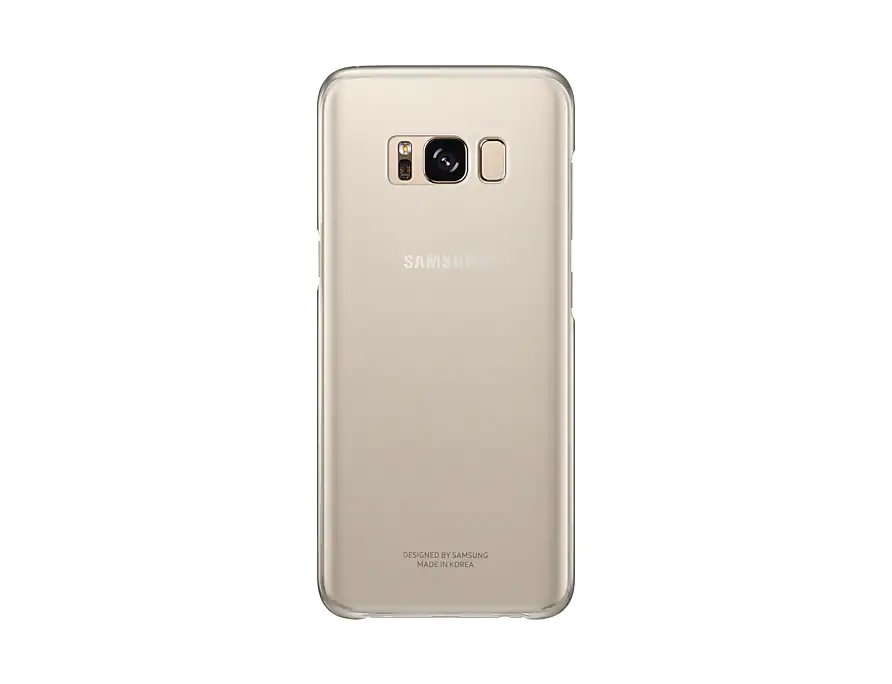 EF-QG955CFE Samsung Clear Cover Gold pro G955 Galaxy S8 Plus (Pošk. Blister)