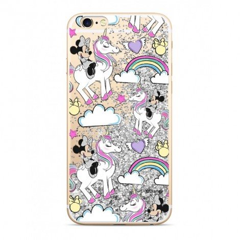 Disney Minnie 037 Glitter Back Cover Silver pro iPhone 5/5S/SE