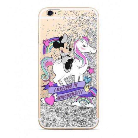 Disney Minnie 035 Glitter Back Cover Silver pro iPhone 5/5S/SE