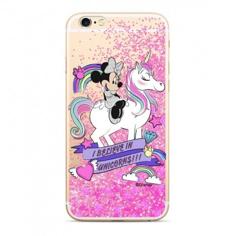 Disney Minnie 035 Glitter Back Cover Pink pro iPhone 6/6S