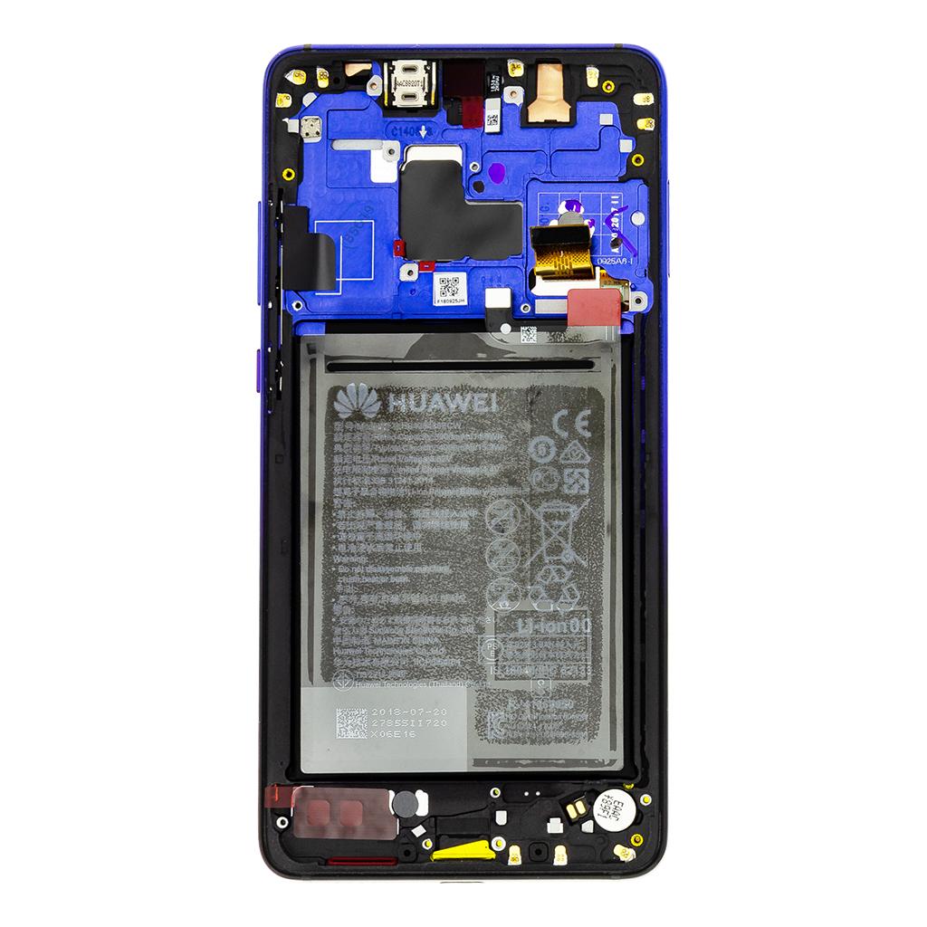 Huawei Mate 20 LCD Display + Dotyková Deska + Přední Kryt Twilight (Service Pack)