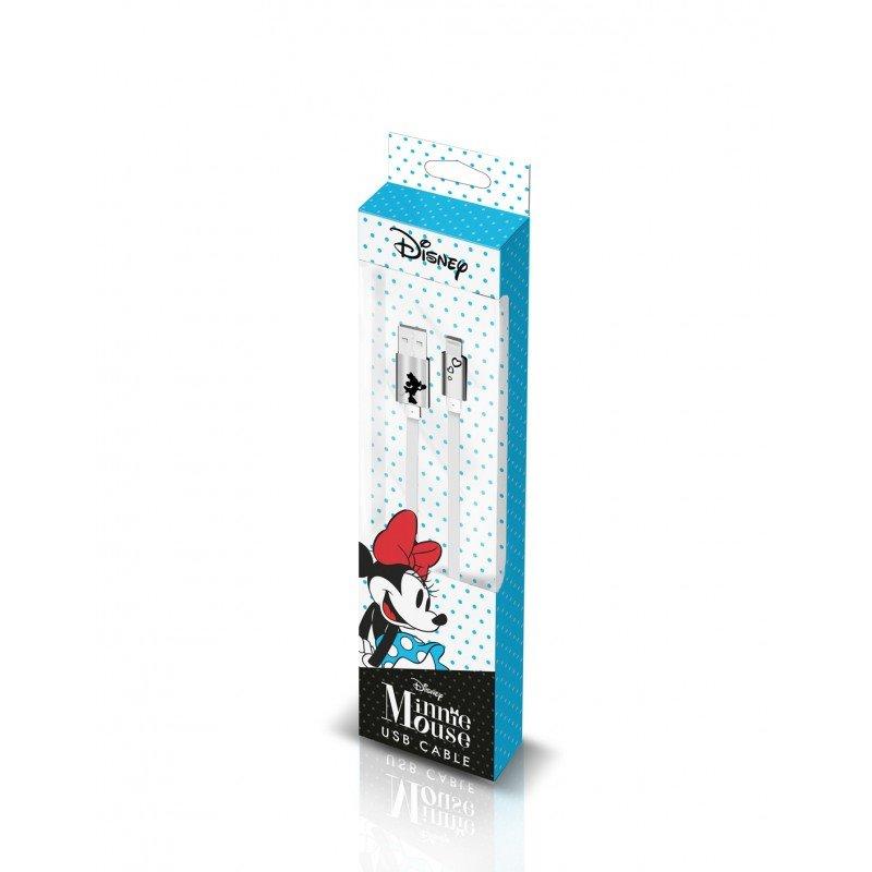 Disney Minnie Lightning Datový Kabel Heart Silver (EU Blister)