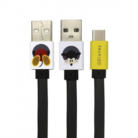 Disney Mickey Type C Datový Kabel Black (EU Blister)
