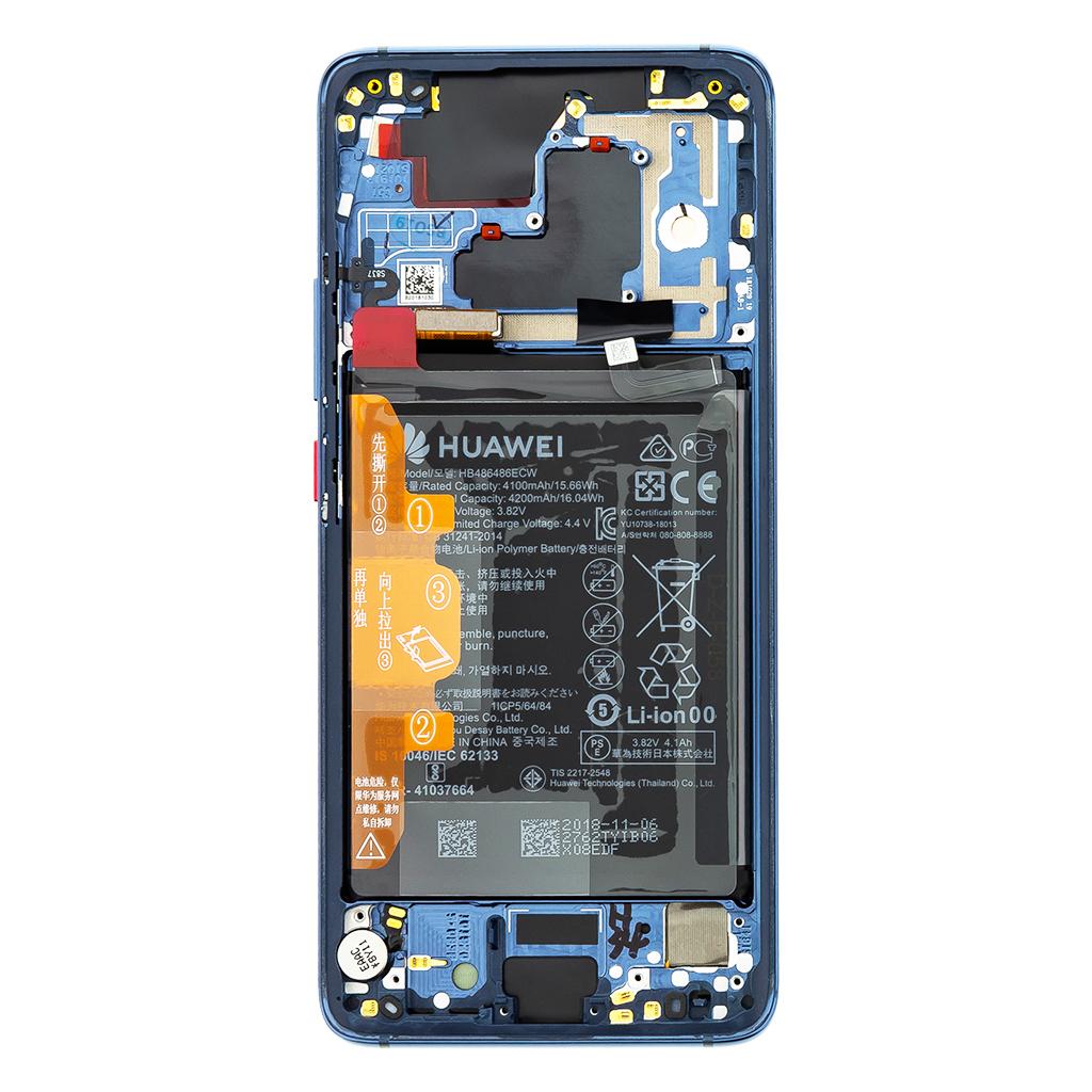 Huawei Mate 20 PRO LCD Display + Dotyková Deska + Přední Kryt Blue (Service Pack)