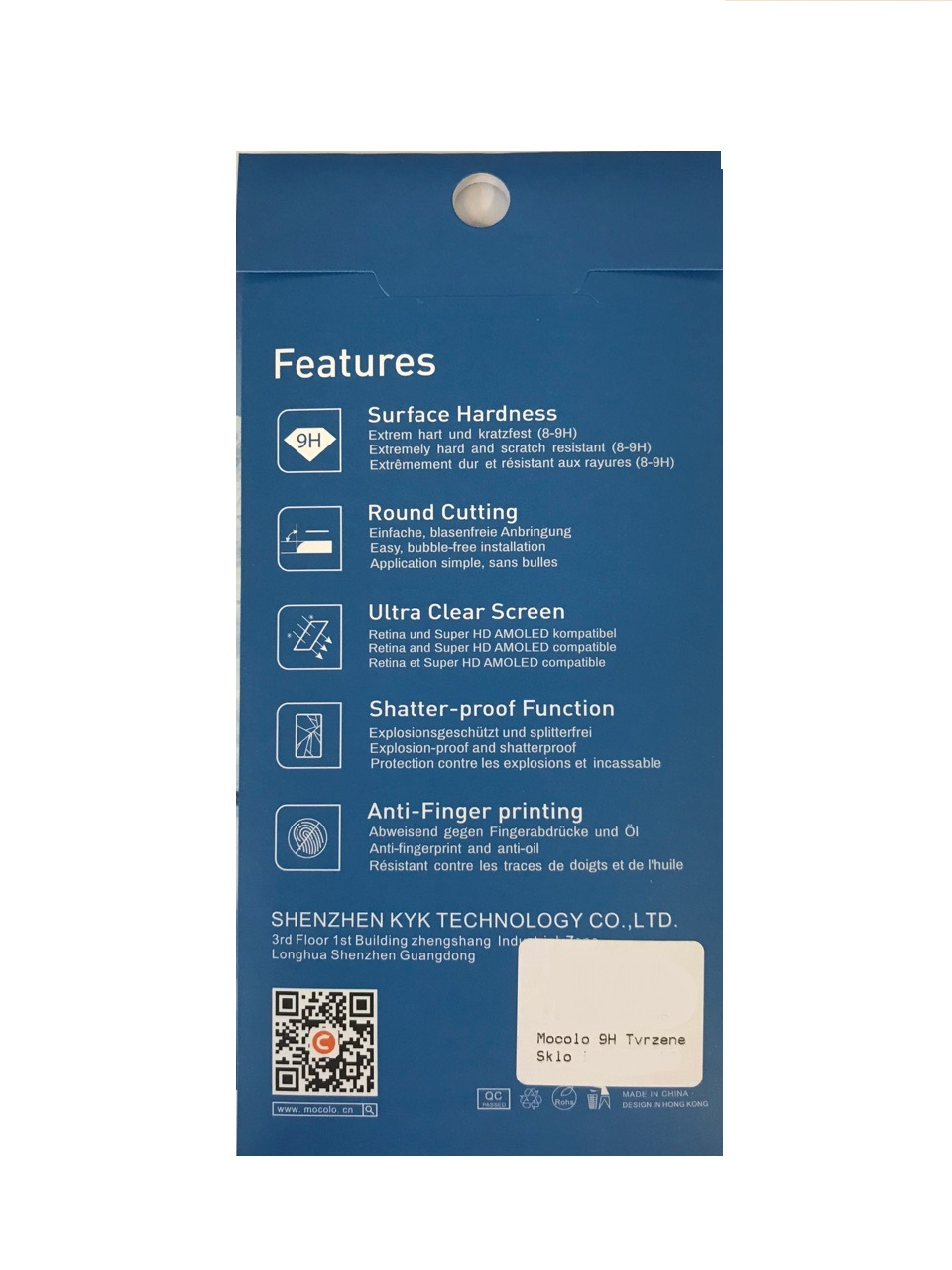 Mocolo 9H Tvrzené Sklo iPhone 6/6S Plus