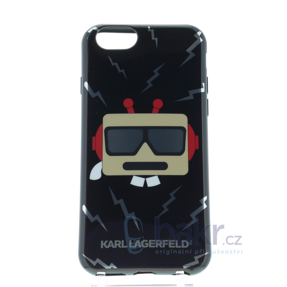 KLHCP6BOT Karl Lagerfeld Karl Robot TPU Case Black pro iPhone 6/6S