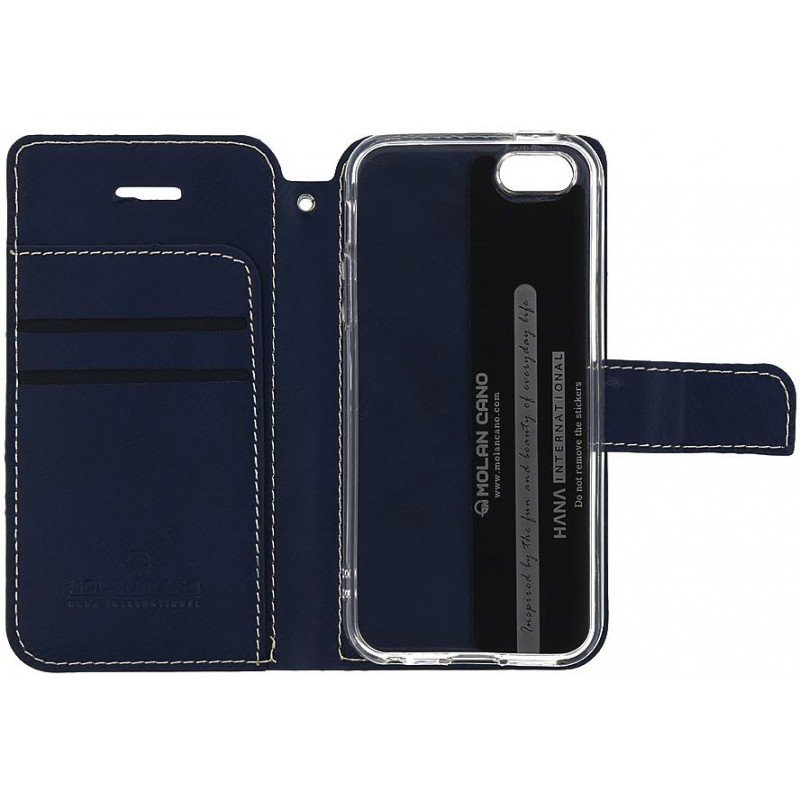 Molan Cano Issue Book Pouzdro pro Huawei Y6 2019 Navy
