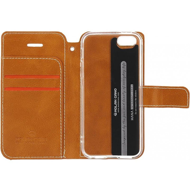 Molan Cano Issue Book Pouzdro pro Huawei Y6 2019 Brown