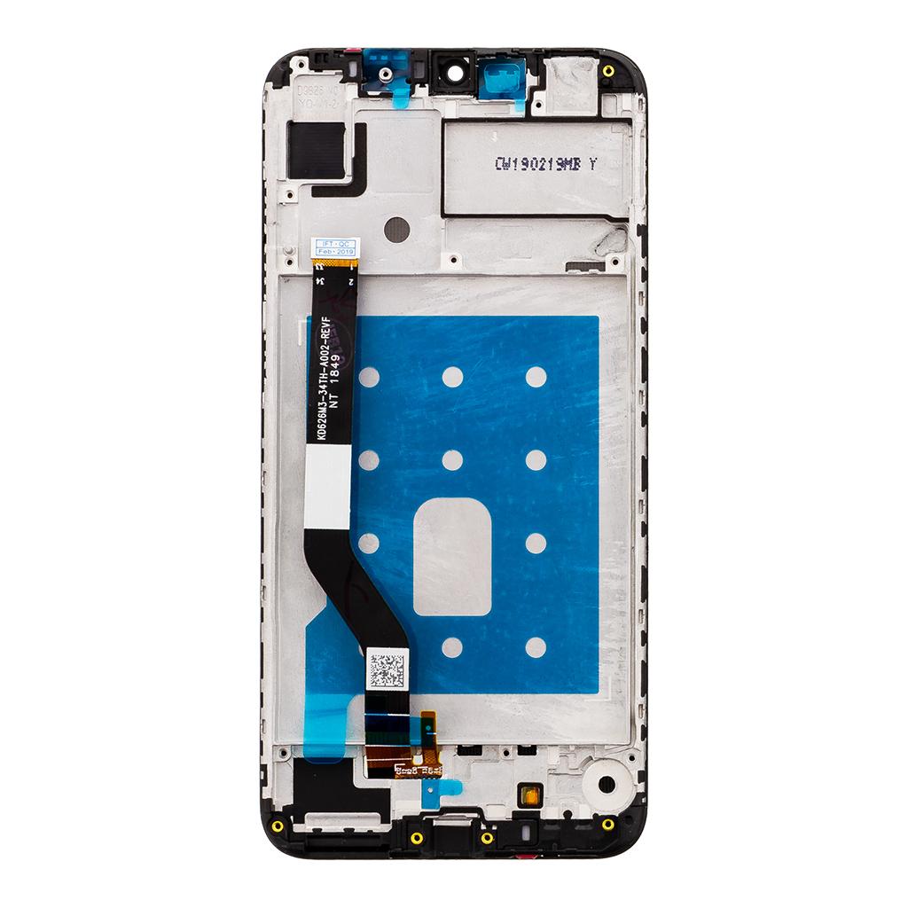 Huawei  Y7 2019 LCD Display + Dotyková Deska + Přední Kryt Black (6pin)