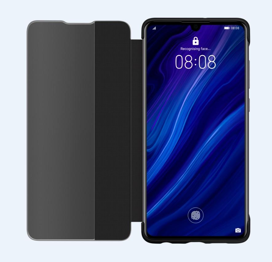 Huawei Original S-View Pouzdro Black pro Huawei P30 6901443277483