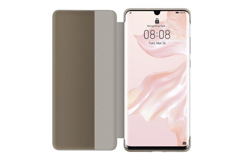 Huawei Original S-View Pouzdro Khaki pro Huawei P30 Pro 6901443277285