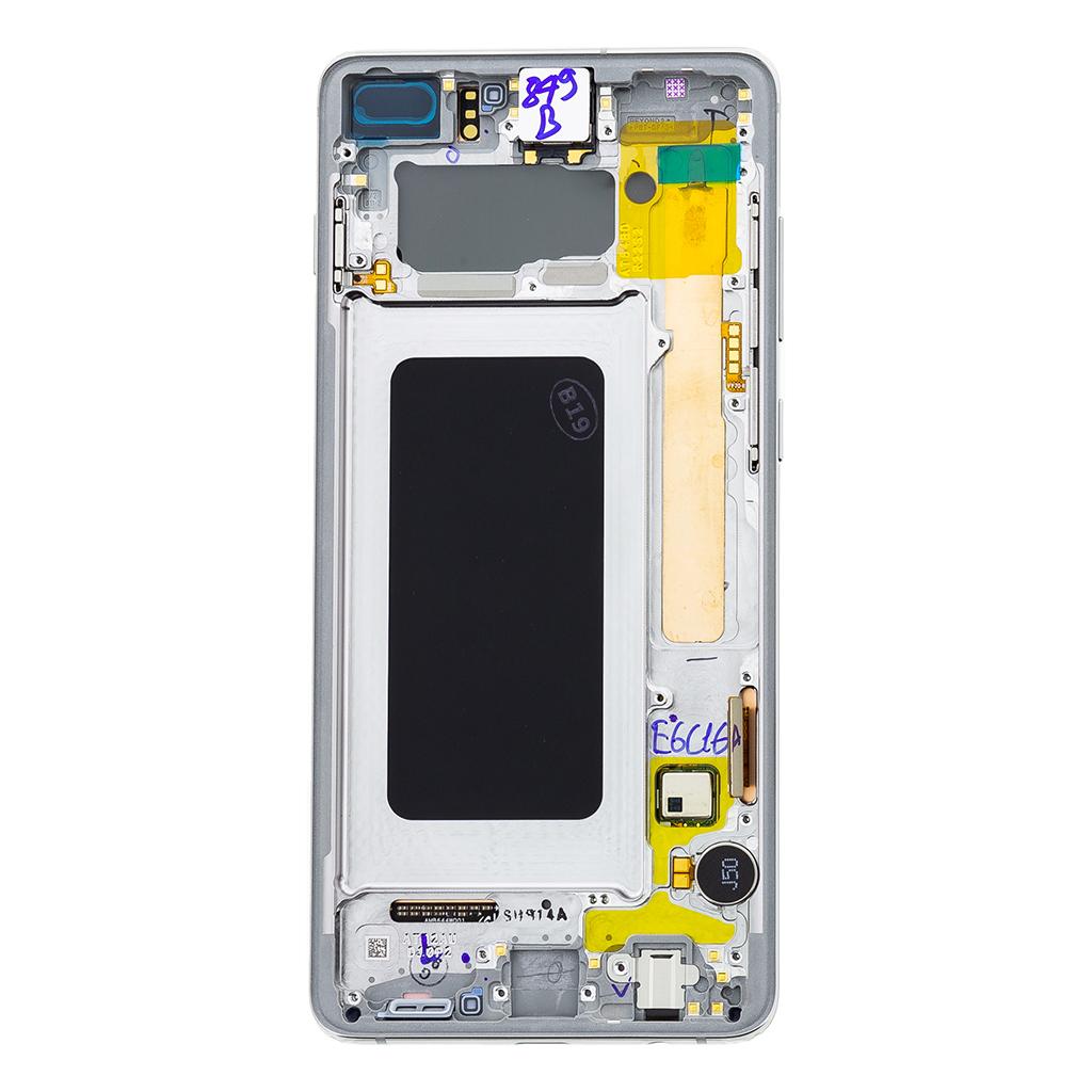 LCD display + Dotyk Samsung G975 Galaxy S10+ White (Service Pack)