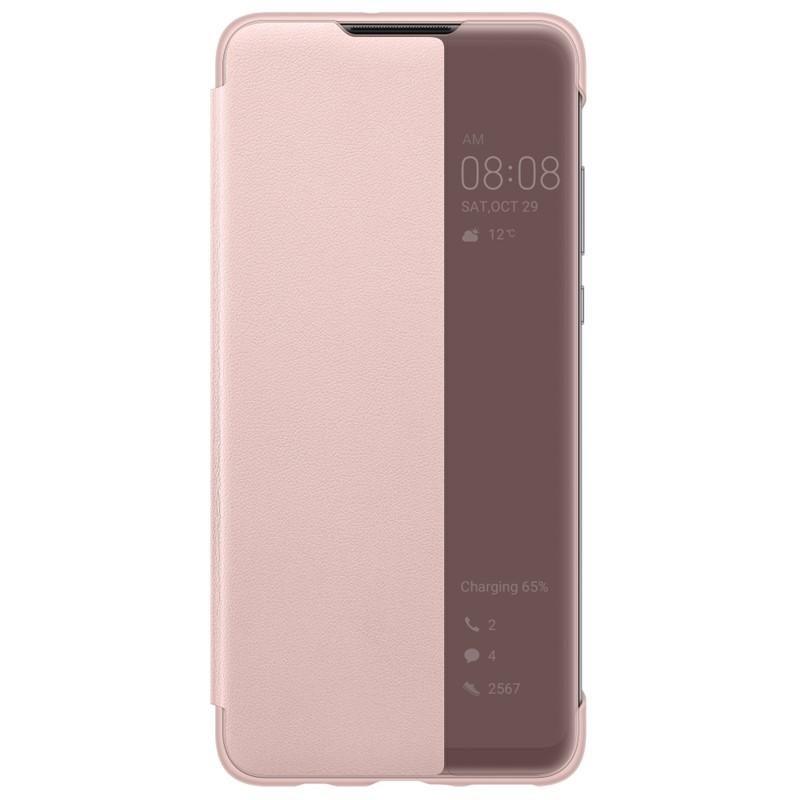 Huawei Original S-View Pouzdro Pink pro Huawei P30 Lite 6901443287789