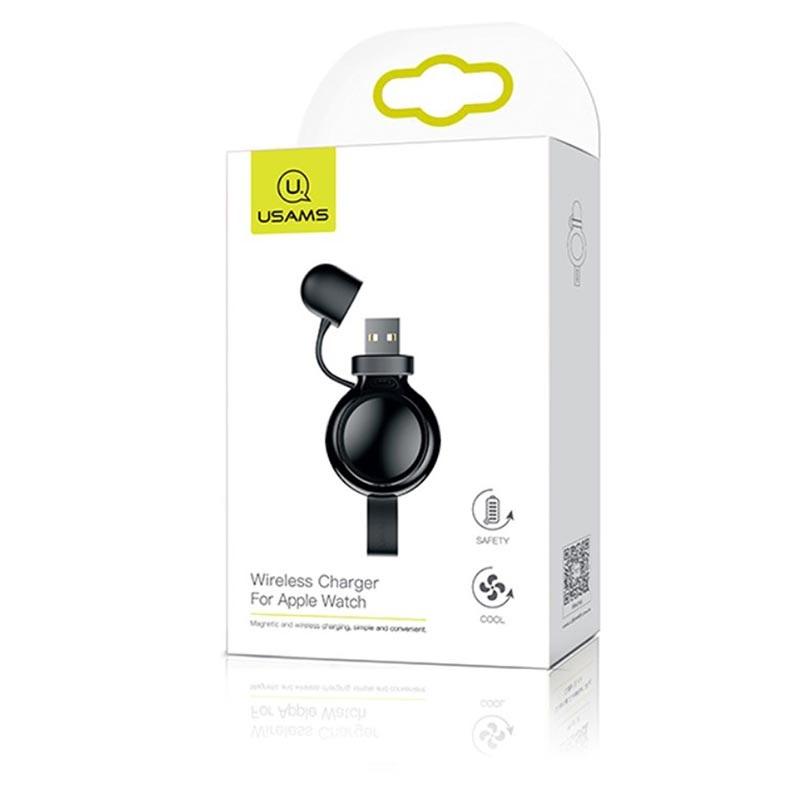 USAMS CC061 Bezdrátová nabíječka pro Apple Watch Black (EU Blister)