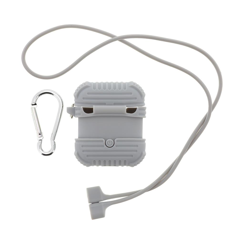 Handodo Silikonové Pouzdro vč. Karabiny pro Apple Airpods Grey (EU Blister)