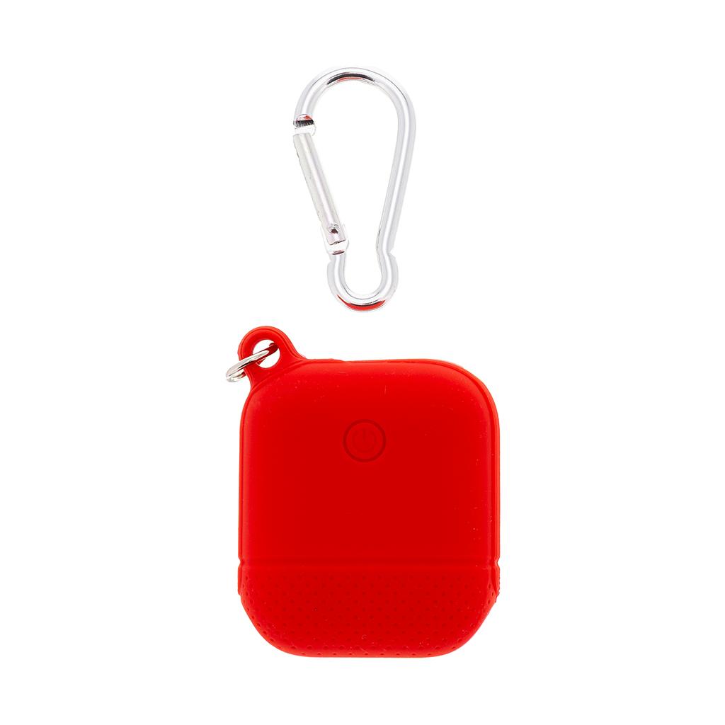 Handodo Smooth Silikonové Pouzdro vč. Karabiny pro Apple Airpods Red (EU Blister)