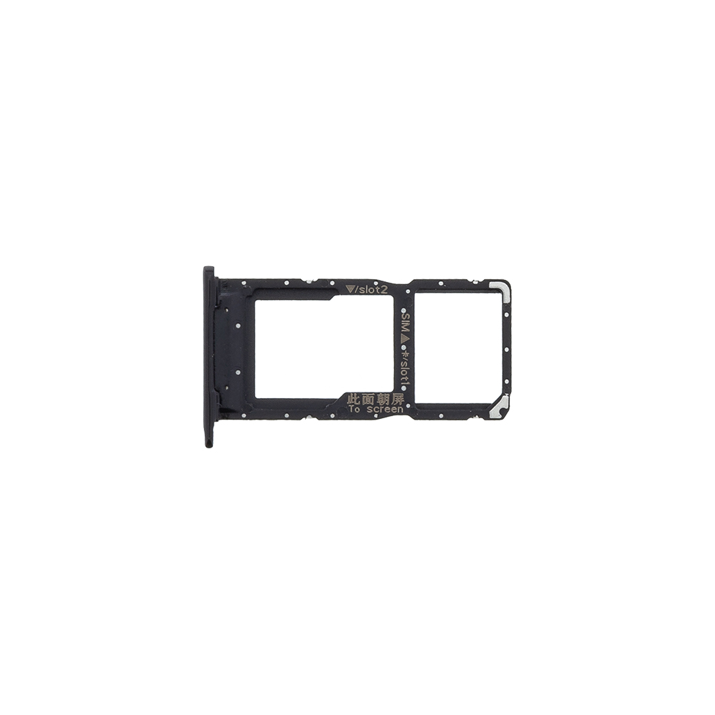 Huawei P Smart 2019 Držák SIM Karty Black (Service Pack)