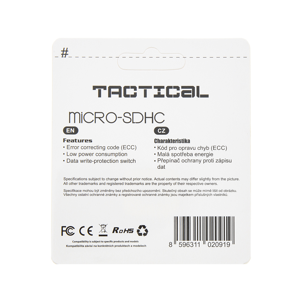 Tactical microSDHC 32GB Class 10 wo/a