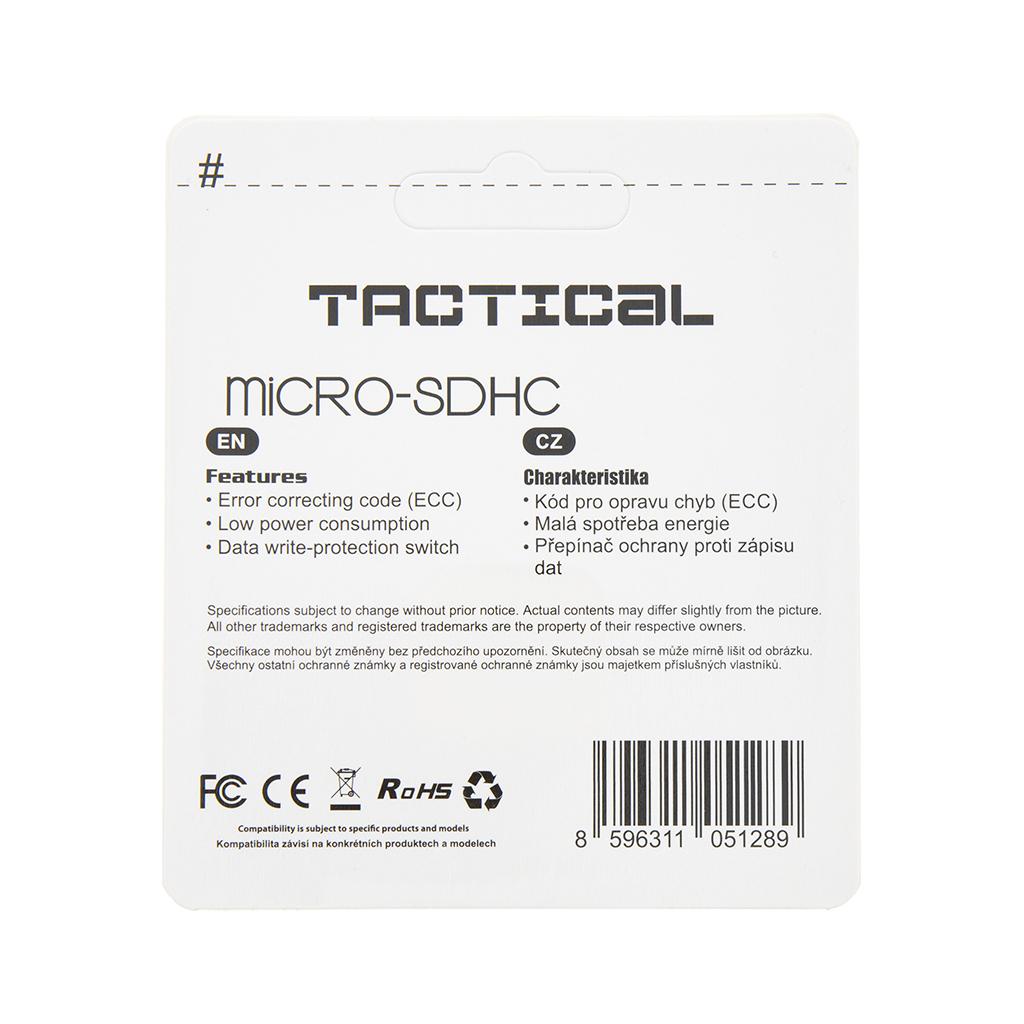 Tactical microSDHC 8GB Class 10 wo/a
