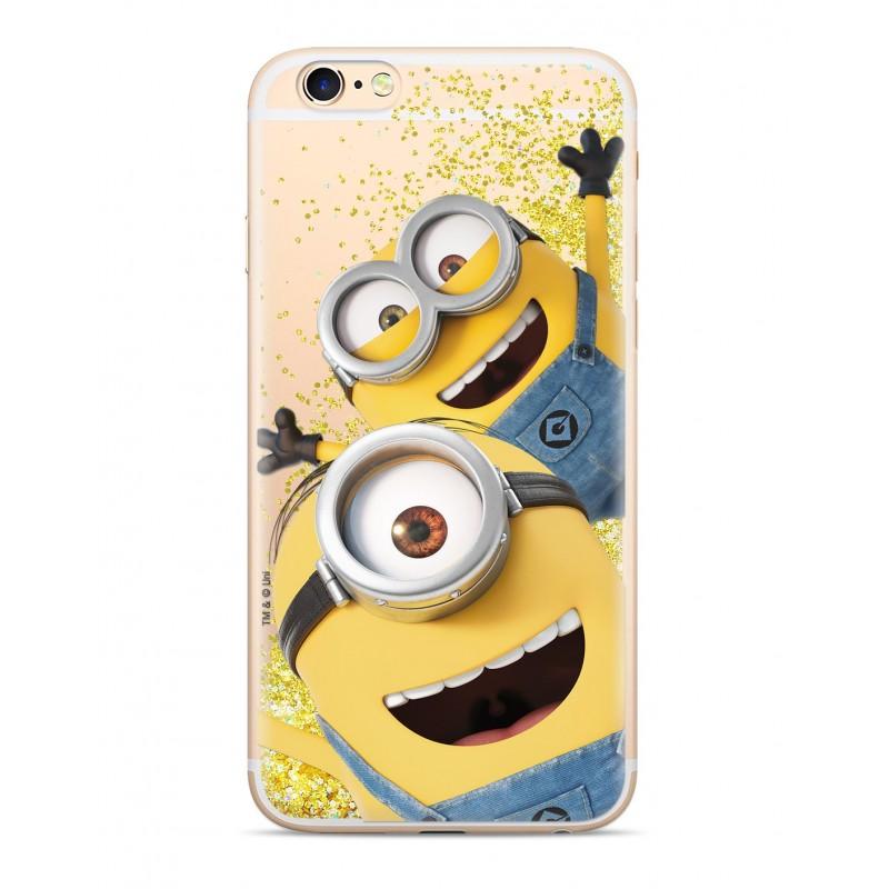 Minions Glitter Zadní Kryt 015 pro iPhone 5/5S/SE Gold